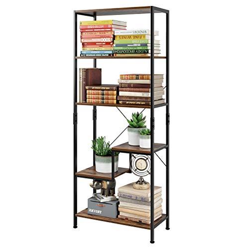 Homfa Standregal Bücherregal Küchenregal mit 5 Ebenen Hochregal Aufbewahrungsregal Pflanzenregal...