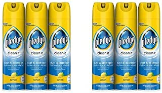 Pledge Dust & Allergen Multisurface Cleaner, Lemon, 9.7 oz - 3