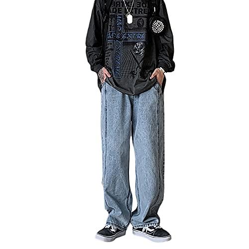 デニムパンツ ワイドパンツ ストレート ロングパンツ バギーパンツ オーバーサイズ ストリート メンズ レディース 男女兼用 カジュアル ジーパン ズボン ゆったり おしゃれ オールシーズン ヒップホップ 大きいサイ