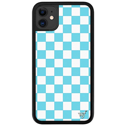 Wildflower Limited Edition Cases Compatible with iPhone 11 (Blue Checkers)
