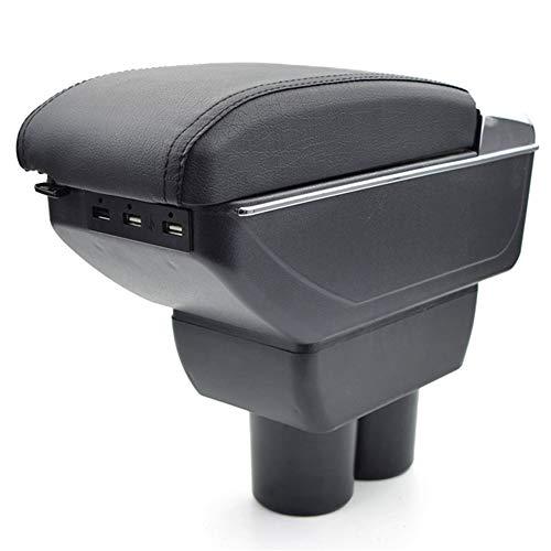 ZHAOHAOSC , Para, para Suzuki, para Jimny reposabrazos del Coche reposabrazos de Cuero Caja de Almacenamiento USB Consola Central del automóvil Accesorios del automóvil 2019 Auto