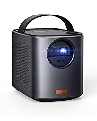 Nebula by Anker Mars II Portable Projector with 720p DLP Picture, Dual 10W Speakers, Android 7.1, 1 Second Auto-Focus, 30–150 in Screen, 4-Hour Playtime, Broad Connectivity, and Wireless Screen Cast,Anker,AK-D2322111