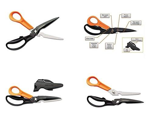 Fiskars Cuts + More Titanium All Purpose Scissors w/ Sharpener and Take Apart Knife