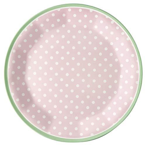 GreenGate - Teller - Frühstücksteller - Kuchenteller - Spot - rosa - Melamin - Ø 20 cm