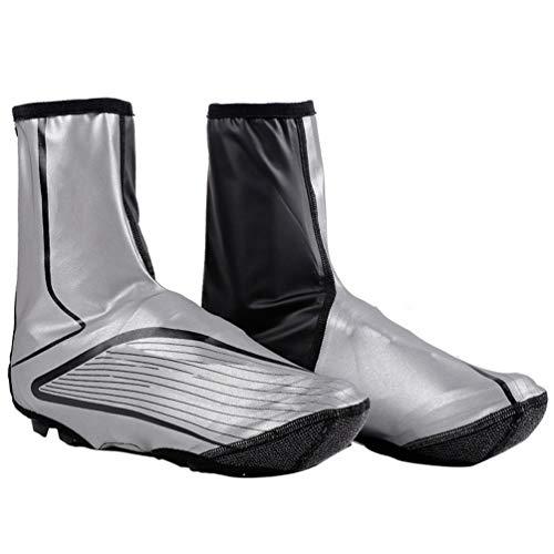 YUYAXPB Cubrecalzados Impermeables, Cubrezapatillas Reflectantes Antideslizantes, MTB Mountain Road Bicicleta Zapatillas de Deporte, XL