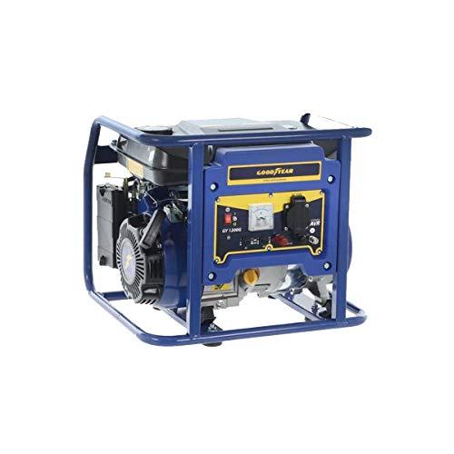 Goodyear Generador eléctrico gasolina , motor 4 Tiempos potencia máxima 1100 W, 3000 RPM, Arranque manual, 210 V - 230 V