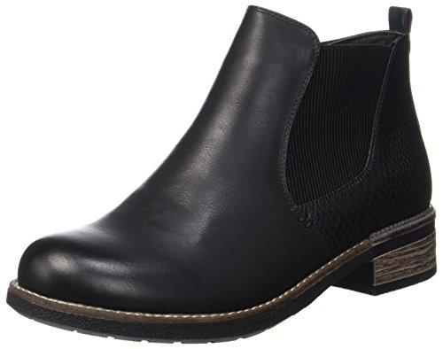 Rieker Damen 94680 Chelsea Boots, Schwarz (Schwarz/Schwarz), 41 EU