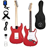 Stretton Payne ST Electric Guitar in Red with Tremolo Whammy Bar. Includes Guitar Bag, Electric Guitar Tuner Lead Strap Spare Strings and Plectrums
