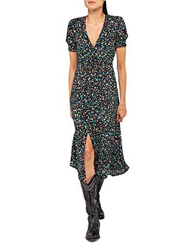 REPLAY W9609 .000.72094 Vestido, Multicolor (Multicolor 010), X-Large para Mujer