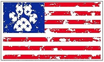 Dog Paw American Flag Vinyl Decal - Patriotic Pet Bumper Sticker - Perfect for Laptops Tumblers Windows Cars Trucks Walls
