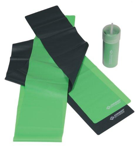Schildkröt Latex Fitnessbänder 2er Set, Grün, 4-Farb Karton, 960020, Limegreen-anthrazit, 0,35mm