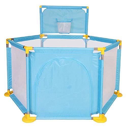 WJSW Bassin pour bébé avec Piscine hexagonale Lavable pour Les océans, diviseur de Chambre Pliable pour stylos pour bébés, intérieur et extérieur (Couleur: Bleu)