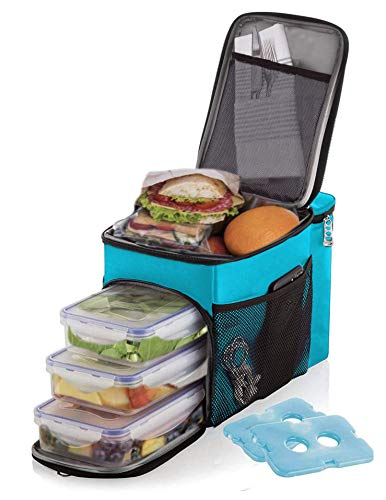 Lunch box For Men Insulated cooler Lunch bag w/ 3