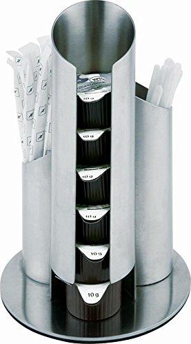 APS leche - / dispensador de azúcar MONODOSIS Diámetro 11 cm, altura 17,5 cm acero inoxidable mate, para hacer porciones, el azúcar y el Rührern
