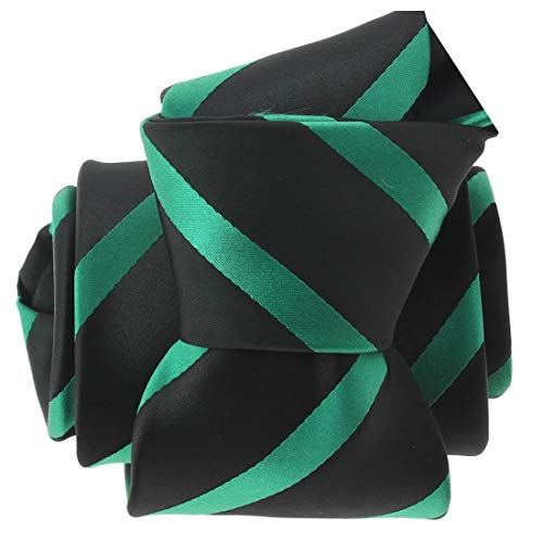 Clj Charles Le Jeune. Cravate. URBANE CLUB, Microfibre. Vert, Club/rayé.