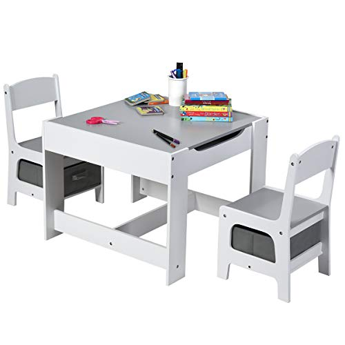 Costzon 3 in 1 Kids Wood Table &...