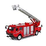 Modelo de camión de Bomberos de aleación 1:50 Modelo DE VEHÍCULO DE INGENIERÍA Modelo DE Camiones DE Fuego Doble Hijo Sube el Modelo de automóvil Adornos de Adultos de Juguete