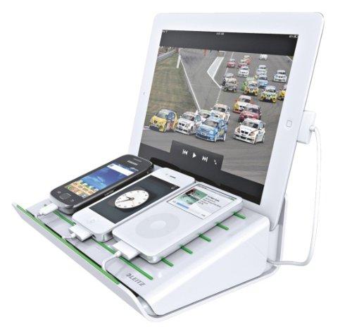 Leitz, Multi-Ladestation für Mobilgeräte, 4 USB-Anschlüsse, Complete, 62640001, weiß