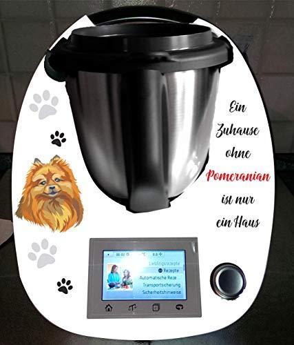 Stickers geschikt voor Thermomix TM 5 hond Pomeranian