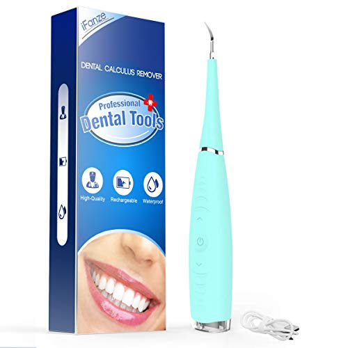 Electric Dental Calculus Remover, Plaque Remover for Teeth, Tooth Tartar Remover, Teeth Cleaning Kit,Tooth Scraper Stain Cleaner Polishing with 5 Speed, USB Recharge (Blue)