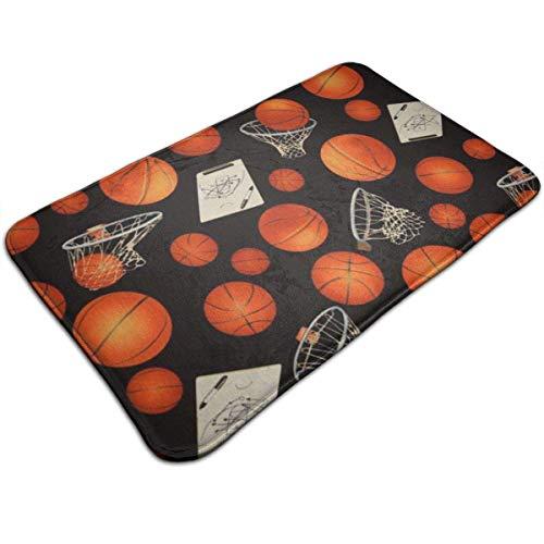 Badmat, absorberend, antislip, met voetmat voor basketbal en cirkels voor binnen, esterren, keuken, entree