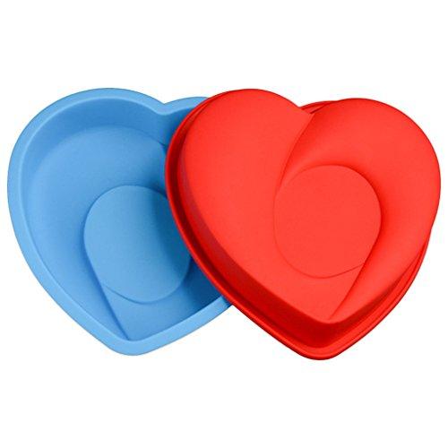 JasCherry Forma de corazón Moldes de Silicona para Tartas, Bizcocho y Paste #5
