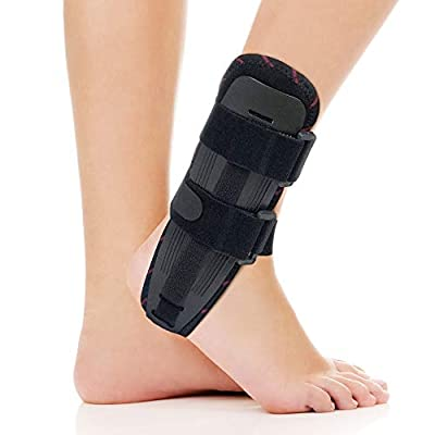 ORTONYX Ankle Stabilizer Brace Stabilizing Stirrup Splint - One Size Fits Most - Black