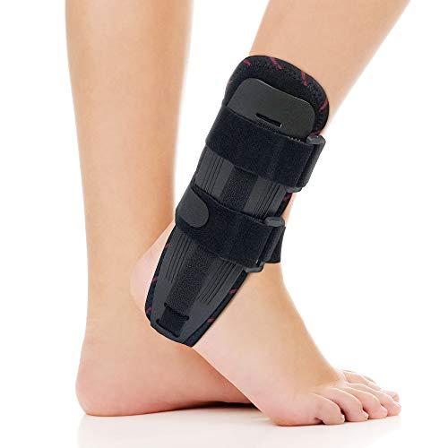 ORTONYX Ankle Stabilizer Brace Stabilizing Stirrup Splint - One Size Fits Most - Black
