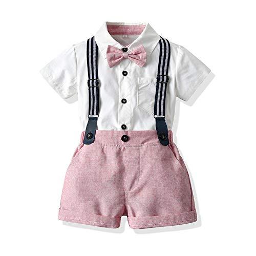 AOQW Conjuntos De Ropa para Bebés Superiores Y Superiores Ropa para Bebés Recién Nacidos Pantalones Cortos Tops De Manga Monos 2Pcs Trajes Ropa De Verano para Bebés-15_3M