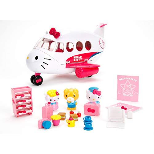 Dickie - Hello Kitty Avión con figuras, apertura de techo, incluye 3 figuras y 20 accesorios (Dickie 253248000)