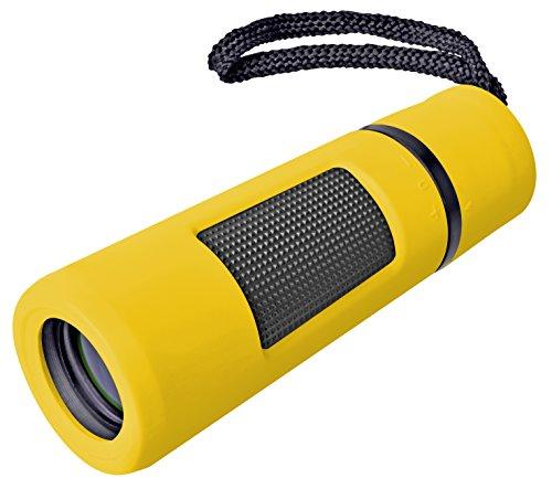 Bresser Monokular Topas 10x25 (mit vergüteter Optik inklusive Trageschlaufe und Transporttasche) gelb