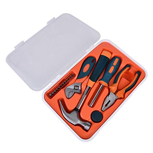 Haushaltswerkzeugsatz, 18-teiliges Werkzeugset, Verschleißfestigkeit für Heimwerkerinstrument Heimwerkergerät Industriewerkzeug Werkstattausrüstung