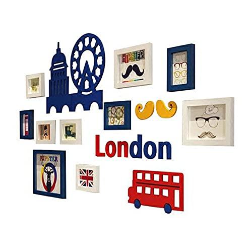 N\C Collage Bilderrahmen, Collage Bilderrahmen Galerie Wandrahmen Set für Wand und Zuhause, Kinderzimmer Collage Rahmen LKWK
