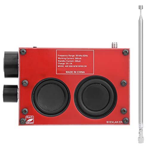 Módulo receptor de radio PCB Eujgoov, receptor inalámbrico HAM con antena, pantalla táctil, componente electrónico IPS de 3,5 pulgadas(rojo)
