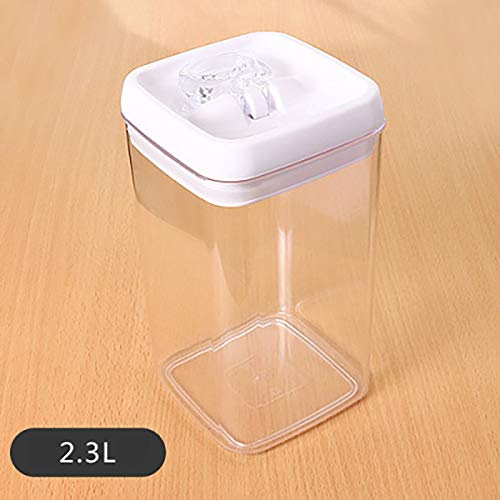 BCGT Kitchen Grain Storage Containers, Transparent Plastic Airtight Jar, Food Storage Jar, for Sugar, Tea, Spices, Coffee Container (Color : 2.3L)