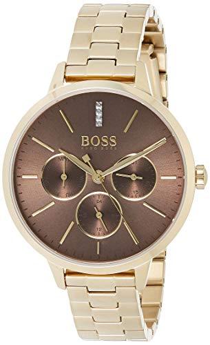 Hugo Boss Unisex Multi Zifferblatt Quarz Uhr mit Edelstahl Armband 1502422
