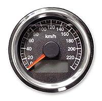 48mm アジャスタブル スピードメーター 1995年以降 電気式 メーター用 メーターステー付属 ハーレー (Black ブラック)
