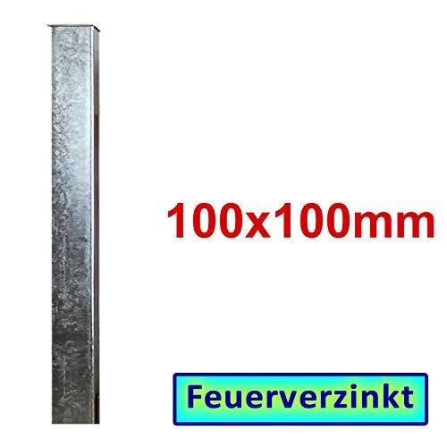 BAUER - Zaun- Torpfosten VZ, zum Einbetonieren, 100x100x3mm, L = 1900mm