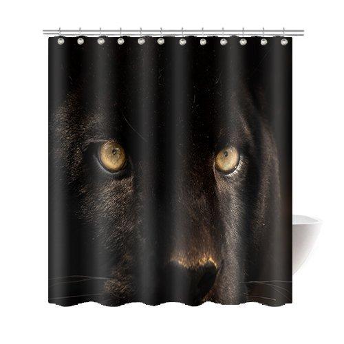 JOOCAR Design Duschvorhang, Panther Art Fotografie, dekorativ, wasserdichter Stoff, Badezimmerdekor-Set mit Haken