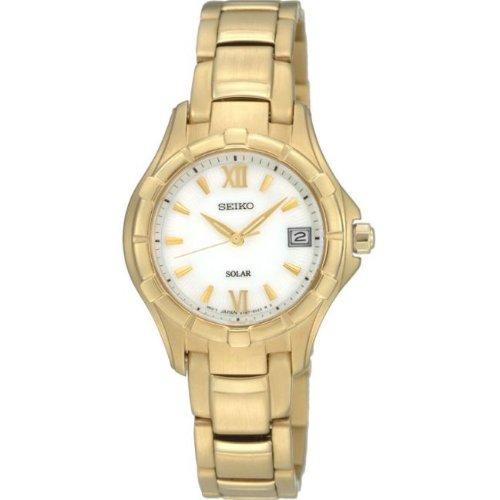 Seiko SUT032P1 - Reloj analógico de mujer de cuarzo con correa de ace