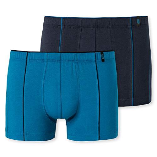 Schiesser Herren Softbund Bluebird 95/5 Boxershorts, Sortiert 3, L (2er Pack)