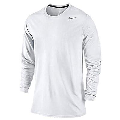 Nike Mens Legend Poly Long Sleeve Dri-Fit Training Shirt White/Carbon Heather 377780-100 Size Medium by Nike