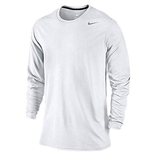 Nike Legend Long Sleeve Dri-Fit Tee T-Shirt Training White Size S