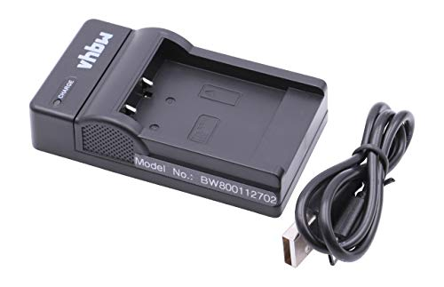 vhbw USB Akkuladegerät kompatibel mit Voigtländer Virtus D8, D800, W7, XM 8600 Digitalkamera, Camcorder, Action Cam-Akku - Ladeschale