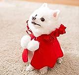 Capa Ropa de Navidad para Perros Gatos, Papa Noel Disfraces Disfraz Sudadera Capucha Chaqueta Camisas Poncho Lindas de Navidad para Cachorro Perro Mascota Pequeño (M)