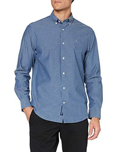 GANT Herren TP Indigo SOLID REG BD Hemd, XL