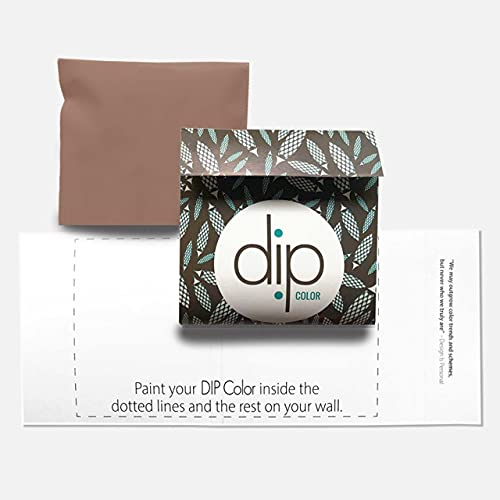 DIP Rue Interior Paint Ultra-Matte Quick Dry – Sample Pouch. Warm Blush. 100% Recyclable Packaging. Easy to clean or touch up. Premium Quality, Low-VOC-One-Coat Hide