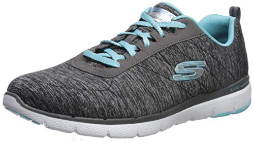 Skechers - Flex Appeal 3.0-Insiders - Zapatillas para mujer, Negro (Bklb), 35.5 EU