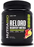 NutraBio Reload - Powerful Muscular Recovery Formula - Post-Workout Supplement - 3G Creatine - 8G BCAAs - 5G Glutamine - 30 Servings, Strawberry Lemon Bomb