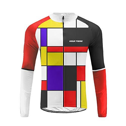 Uglyfrog New Sommer Herren Manner Lange Hülse Zyklus Jersey Langarm Fahrradtrikot Fahrrad Hemd Fahrrad Radfahren Trikot Cycling Jersey Bike Shirt